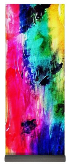 Luxe Splash Yoga Mat by Rachel Maynard. This yoga mat is x in size and made from natural rubber with a blended microfiber top surface. Yoga Mats For Sale, Large Beach Towels, Framed Prints, Canvas Prints, Mixed Media Artwork, Basic Colors, Doodle Art, Color Show, Colorful Backgrounds