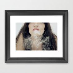 Inhale Framed Art Print by josemanuelerre - $35.00