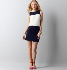 Petite Colorblocked Sleeveless Dress - I've been eyeing this one for a couple of months but haven't managed to snag it on sale :(