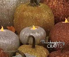 Bring the perfect sparkle to any fall decor with Clinton Kelly's Glitter Pumpkins! #TheChew #Craft #DIY