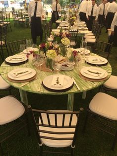 green and eggplnat centerpiece