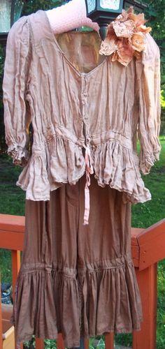Older Style Magnolia Pearl Crinkled Linen Gauze Jacket