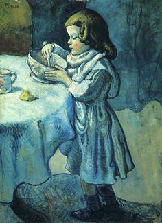 Pablo Picasso Gurme / Le Gourmet 1901. Tuval üzerine yağlıboya. 92.8 x 68.3 cm. The National Gallery, Londra.