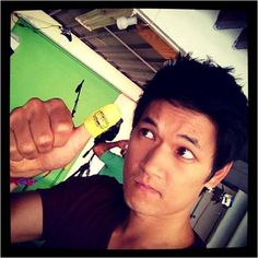 Glee actor Harry Shum Jr. playing Thumb Wars! Enter now to win! http://expresslane.idrivesafely.com/lets-play-thumb-wars