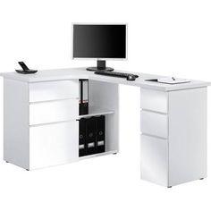 Maja Oxford Corner Desk in Ice White and High Gloss White (9543 3956)