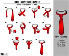 How to Tie a Double Windsor Neck-Tie? How to Tie a Full Windsor Necktie Knot Video Double Windsor Tie, Windsor Tie Knot, Half Windsor, Types Of Ties, Types Of Knots, Outfits Casual, Style Outfits, Casual Wear, Moda Masculina
