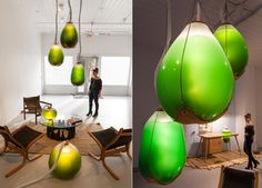 These living algae lamps produce light, heat, and a protein-packed snack