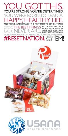 Do you need to lose weight? Do you have a sugar addiction? Could your body benefit from eating healthier? The #Usana #Reset is a low glycemic, 5 day program that just might be the kick-start you need! Check out http://thechapmans.usana.com for more info.
