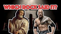 "Which Rock Said It?  Can you smell what The Rock is cooking? In this case, the answer is obviously Dwayne ""The Rock"" Johnson, but the Apostle Peter may have also said this to the other disciples around the fire at dinnertime."