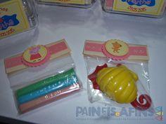 Embalagens personalizadas para os complementos do Kit Modelar #PeppaPig