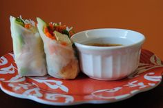 Spring Roll recipe -- and I do have some rice paper in the pantry...