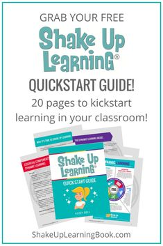This guide is an excellent overview of some of the concepts and ideas from the book, including fifteen dynamic learning tips for teachers! Flipped Classroom, Blended Learning, Budget Template, Quotes For Students, Elementary Education, Learning Resources, Teaching Ideas, Google Classroom, Educational Technology