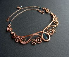 Copper Collar | For April Contest Dual-length necklace of re… | Flickr