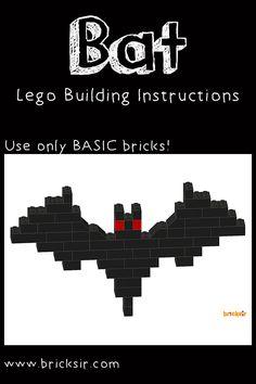 Bat Lego Instructions from Bricksir Halloween Set! Free app download at…