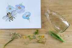 Honeybee and Wildflower Watercolor. . . . #bee #honey #honeybee #watercolor #wildflowers #decor #homedecor #wallcandy #beachdecor #craftsposure #makersvillage #themakershaus #thhmd #makersbiz #makersgottamake #watercolorforsale #shop #shopinstagram #artofinstagram #insectart #savethebees #followetsyexclusive #beeart #etsy #etsyshop #etsyseller #shophandmade #stationery