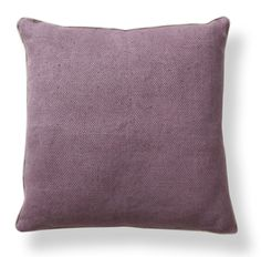 "Willow Basket Weave 22"" Pillow in Plum Design by Villa Home"