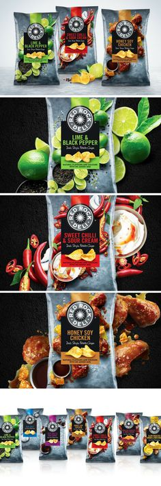 Red Rock Deli packaging by AKA Brand Design