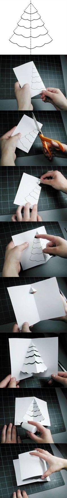 3D kerstboomkerstkaart - stappenplan