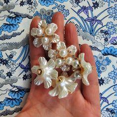 Fancy flower buttons for making garlands
