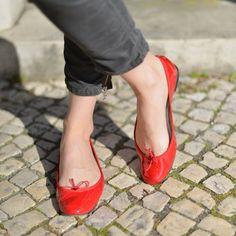 Ballerines Repetto Rouges vernies