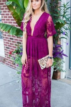 Bombshell Lace Maxi Dress - Swoon Boutique