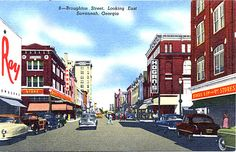 Broughton Street, Looking East, Savannah, Georgia.