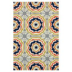 Anchor your patio seating group or define space in the sunroom with this artfully crafted indoor/outdoor rug, showcasing a tiled medallion motif for exotic a...
