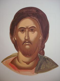 Face of Christ. Style of Theophanes. Religious Images, Religious Icons, Religious Art, Byzantine Icons, Byzantine Art, Writing Icon, Biblical Art, Painting Process, Orthodox Icons