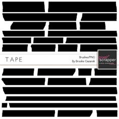 Tape Templates Kit by Brooke Gazarek | Pixel Scrapper digital scrapbooking
