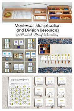 Montessori Multiplication and Division Resources for Preschool Through Elementary