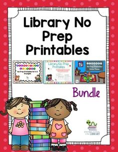 This is a bundle of my 3 sets of no prep printables.  Elementary Library No Prep Printables Elementary Library No Prep Printables - WinterElementary Library No Prep Printables - Spring/SummerThe preview shows pages from all 3 products.  These are perfect to leave for a substitute, to use when there is extra time or to reinforce a specific skill.