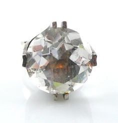 Big Vintage 1970s Elis Kauppi Kupitaan Kulta Finland Sterling Amp Crystal Ring 9 5 | eBay
