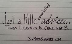 Advice for Challenge Directors
