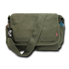 Rapiddominance Classic Military Messenger Bags, Olive Cotton Canvas Polyester lining Overall dimension: Approx. x x D Military Specs Total Volume: Approx. cu in) L) Military Messenger Bag, Messenger Bag Backpack, Thing 1, Garment Bags, Travel Wardrobe, Cool Backpacks, Trends, Travel Luggage, Travel Packing