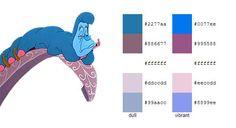 Alice in Wonderland Color Scheme Palette   color #palette #scheme Alice in Wonderland (Disney) - Caterpillar