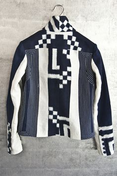 Taylor jacket, boldly mixed vintage and new fabrics.  $1995.