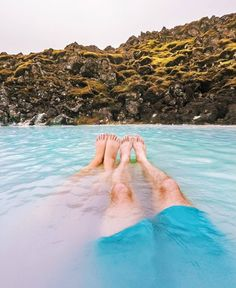 The perfect recipe to get rid of jet lag? Relax in the Blue Lagoon! Jet Lag, Blue Lagoon, Perfect Food, Iceland, Relax, Recipe, Outdoor Decor, Ice Land