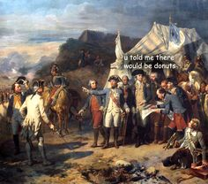The captioned adventures of George Washington continue.