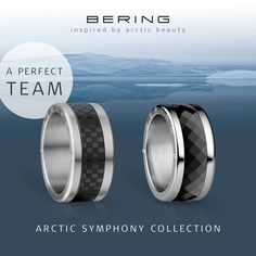 Arctic Symphony Collection; Rings for him and her; Women's and men's ring; BERING jewellery, A perfect team; Twist & Change system