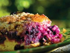"""This is a big cake, good to take to a cookout or """"locavore"""" pot luck. Crumble Recipe, Crumble Topping, No Bake Desserts, Dessert Recipes, Mulberry Recipes, Berry Cake, Big Cakes, Ginger Cookies, Eat Dessert First"""