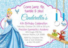 Gimnasia o trampolín cumpleaños invitación imprimible fiesta