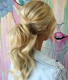 This ponytail though! Perfection. Via @hbkandcohairdressing #ohhellohaircrush #hairinspo #hairposts #haircrush #perfectpony