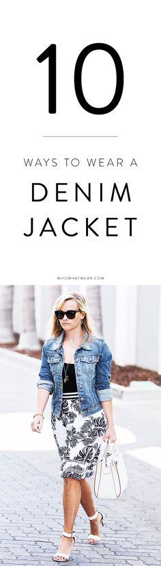 New ways to wear your denim jacket