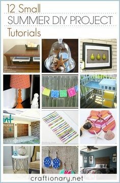 12 Small Summer DIY Projects (quick and easy).