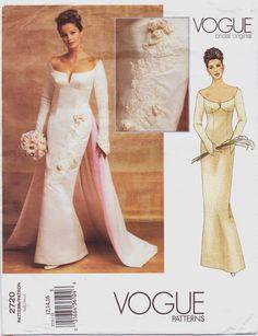 Vogue Bridal Original Pattern 2720 Womens Red By Cloescloset 20 00