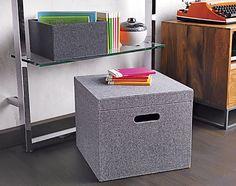 Grey Felt File Box // CB2 // Memento Box // Office Storage // simplyspaced.com