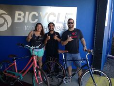 Look out Pacific Beach Michael and Crystal are rolling into town on their new wheels #BicycleWarehouse #giantbicycles #LivBeyond #pacificbeach