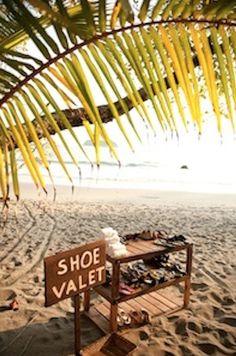Shoe valet for destination weddings #WedInWailea