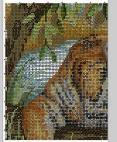 Kreuzstich-tiger