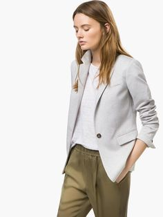 GREY KNIT BLAZER - View all - Blazers - WOMEN - United Kingdom